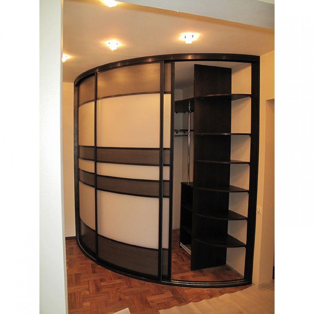 Радиусный угловой шкаф 13 гардеробная, заказать в интернет-м.