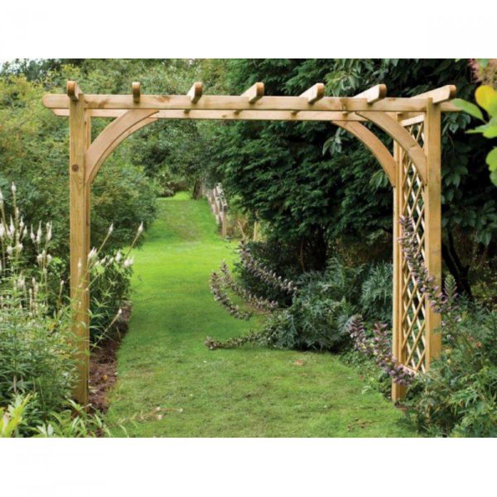 Перголы и арки из дерева для дачи фото